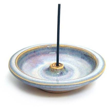 Shoyeido 4-inch Round Ceramic Incense Moon Glow
