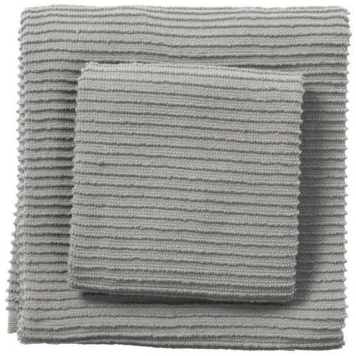 Now Designs Ripple 13x13in Dish Cloth, Grey