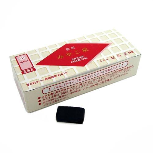 Shoyeido Square Charcoal Type A Myako Sumi (48 Pieces)