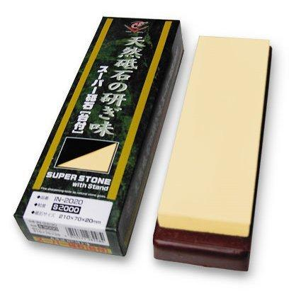 Naniwa Super Stone 2000 Grit Sharpening Stone with Stand