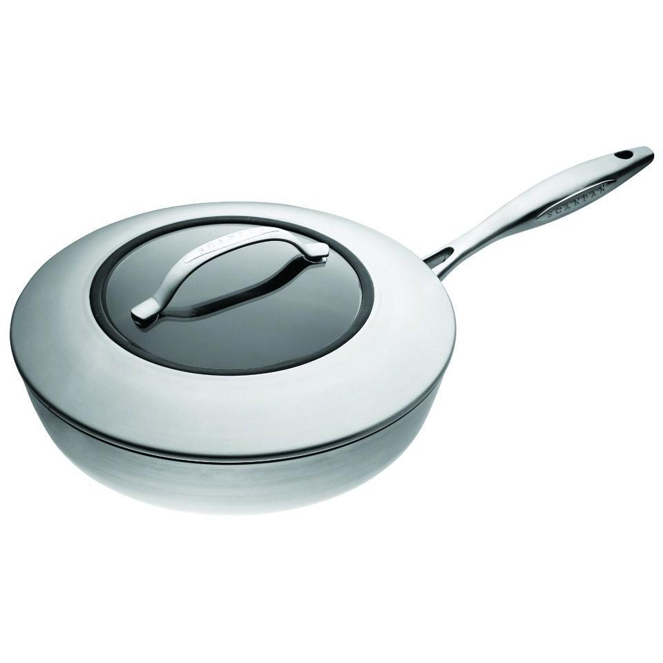 SCANPAN CTX 10.25in Ceramic Titanium Covered Saute Pan