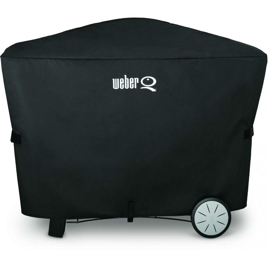 Weber Grill Cover with Storage Bag for Q3000/Q2000 with Patio Cart