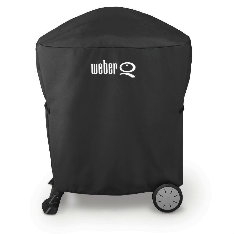 Weber Grill Cover with Storage Bag for Q with Rolling Cart
