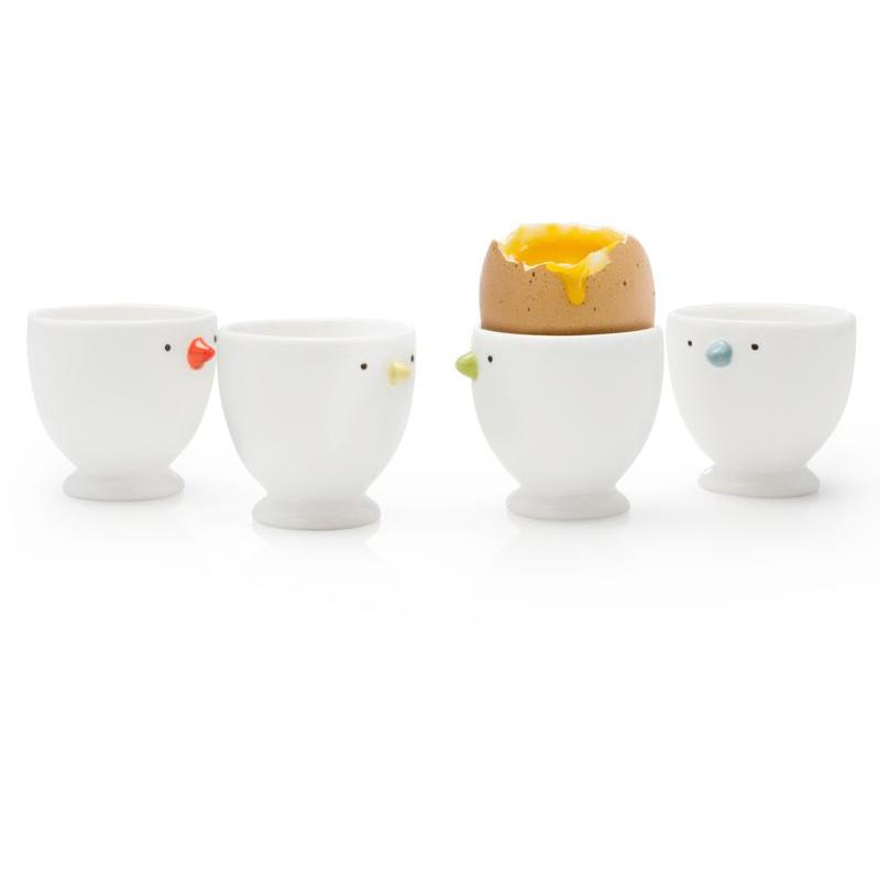 BIA Chick Porcelain Egg Cups 4-Pack