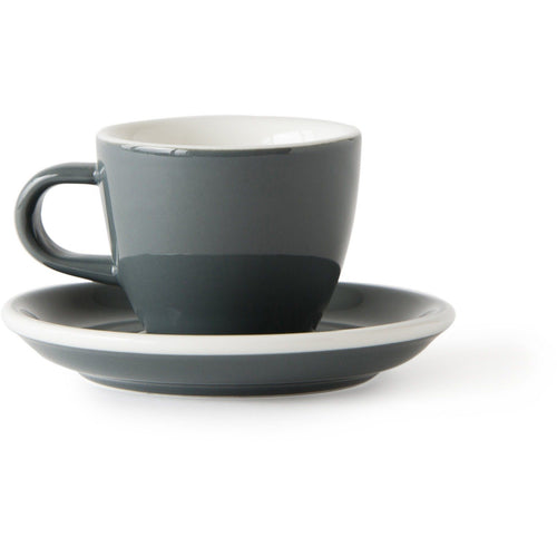 Acme Evolution Demitasse Cup and Saucer Grey