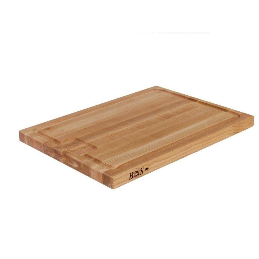 John Boos Maple 24x18in Au Jus Cutting Board with Juice Groove