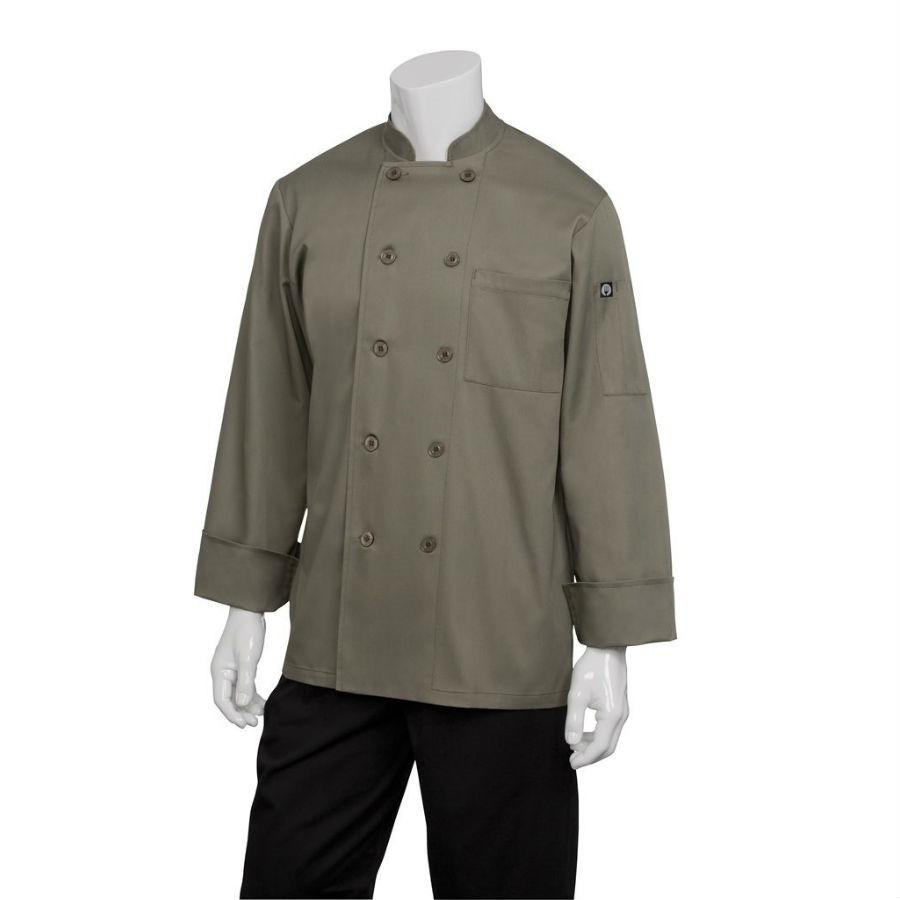 Chef Works CCBA-OLI Basic Chef Coat, Olive, Size M