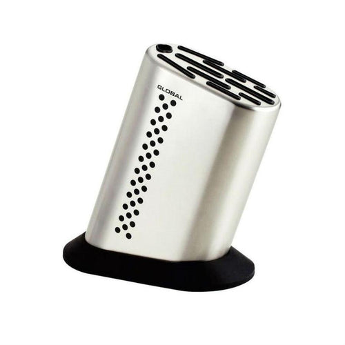 Global Dotted Stainless Steel 11-Slot Knife Block
