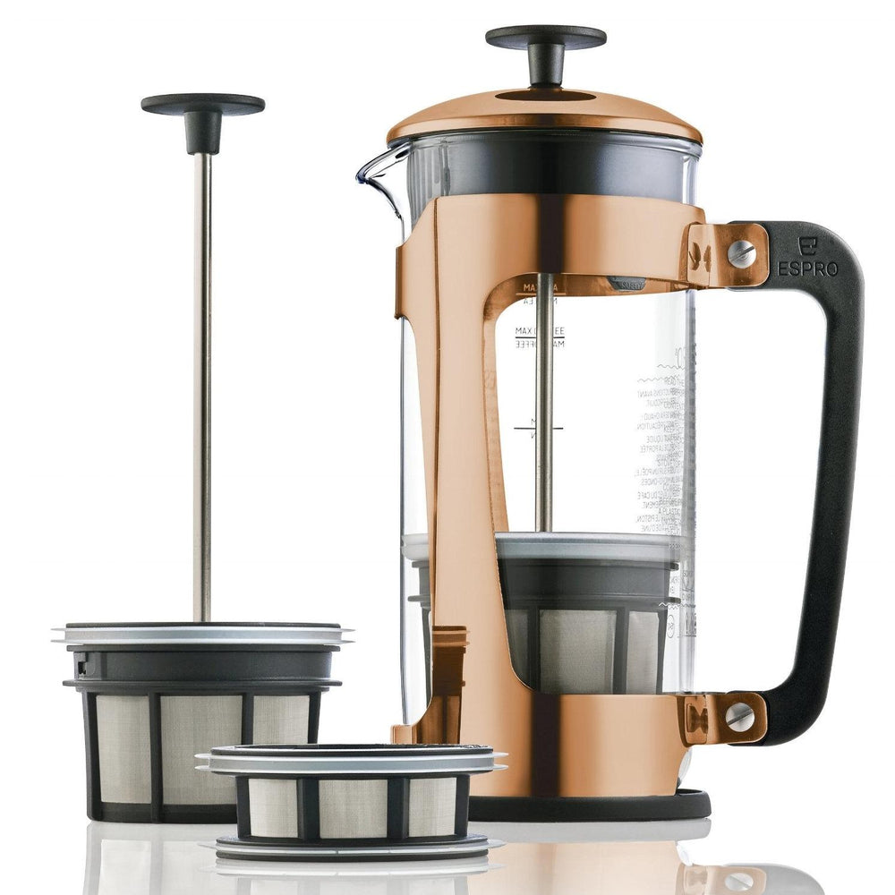 Espro Press P5 32oz French Press for Coffee Glass + Copper