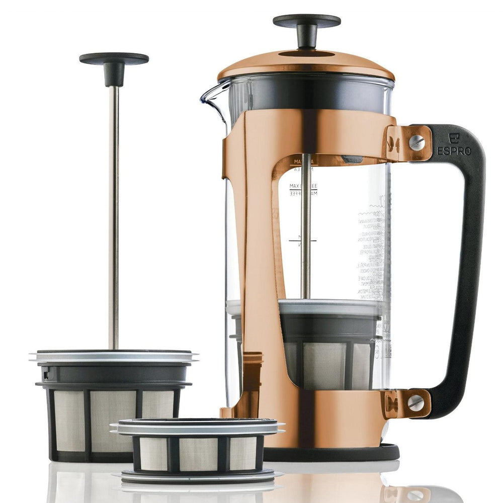 Espro Press P5 32oz French Press for Tea Glass + Copper Plated