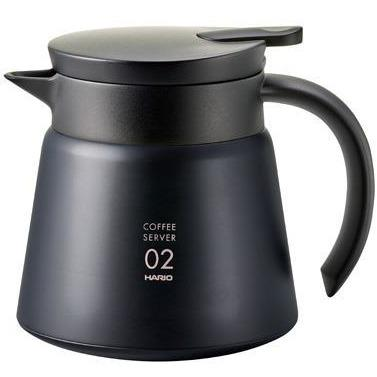 Hario V60-02 Insulated Stainless Steel Server 550ml Black