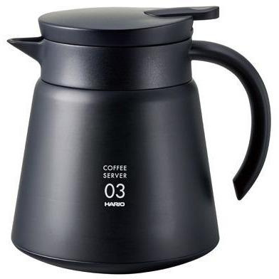 Hario V60-03 Insulated Stainless Steel Server 800ml Black