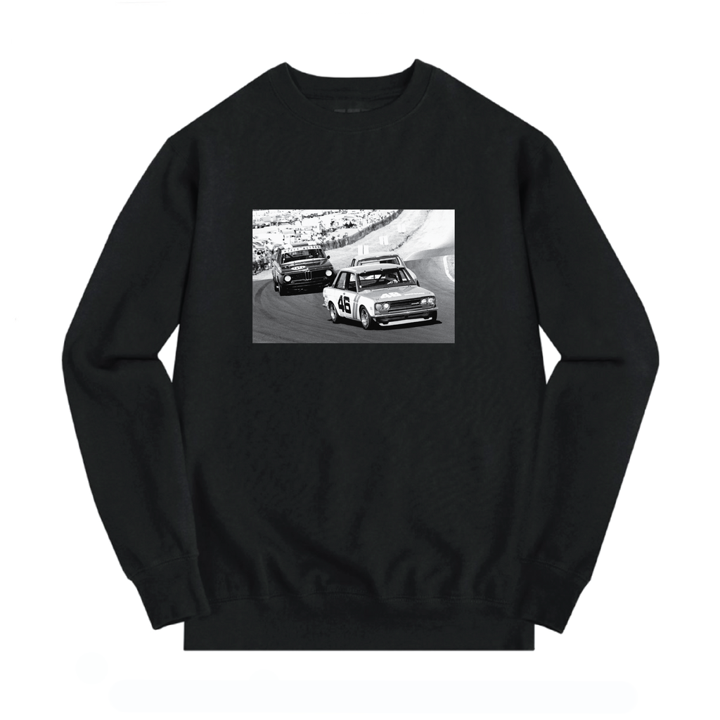 TRANS AM DATSUN VS. BMW CREWNECK (BLACK)
