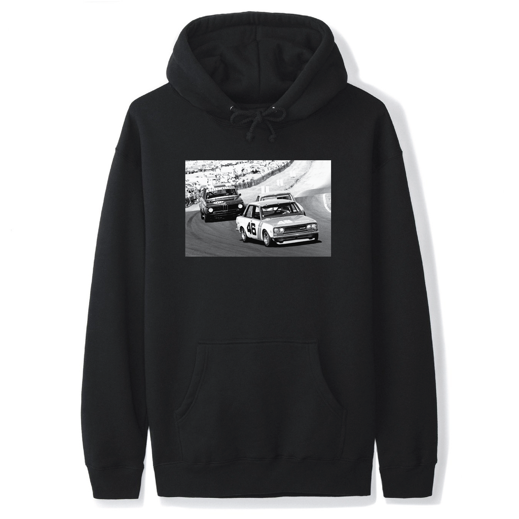 TRANS AM DATSUN VS. BMW HOODIE (BLACK)