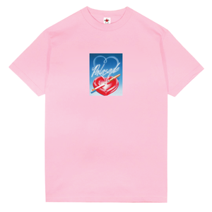 "PALASADE ""HEART TRAY"" TEE (POWDER PINK)"