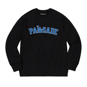"PALASADE ""DODGER"" HEAVYWEIGHT CREWNECK (BLACK)"