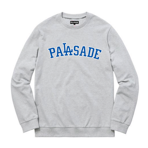 "PALASADE ""DODGER"" HEAVYWEIGHT CREWNECK (GREY)"