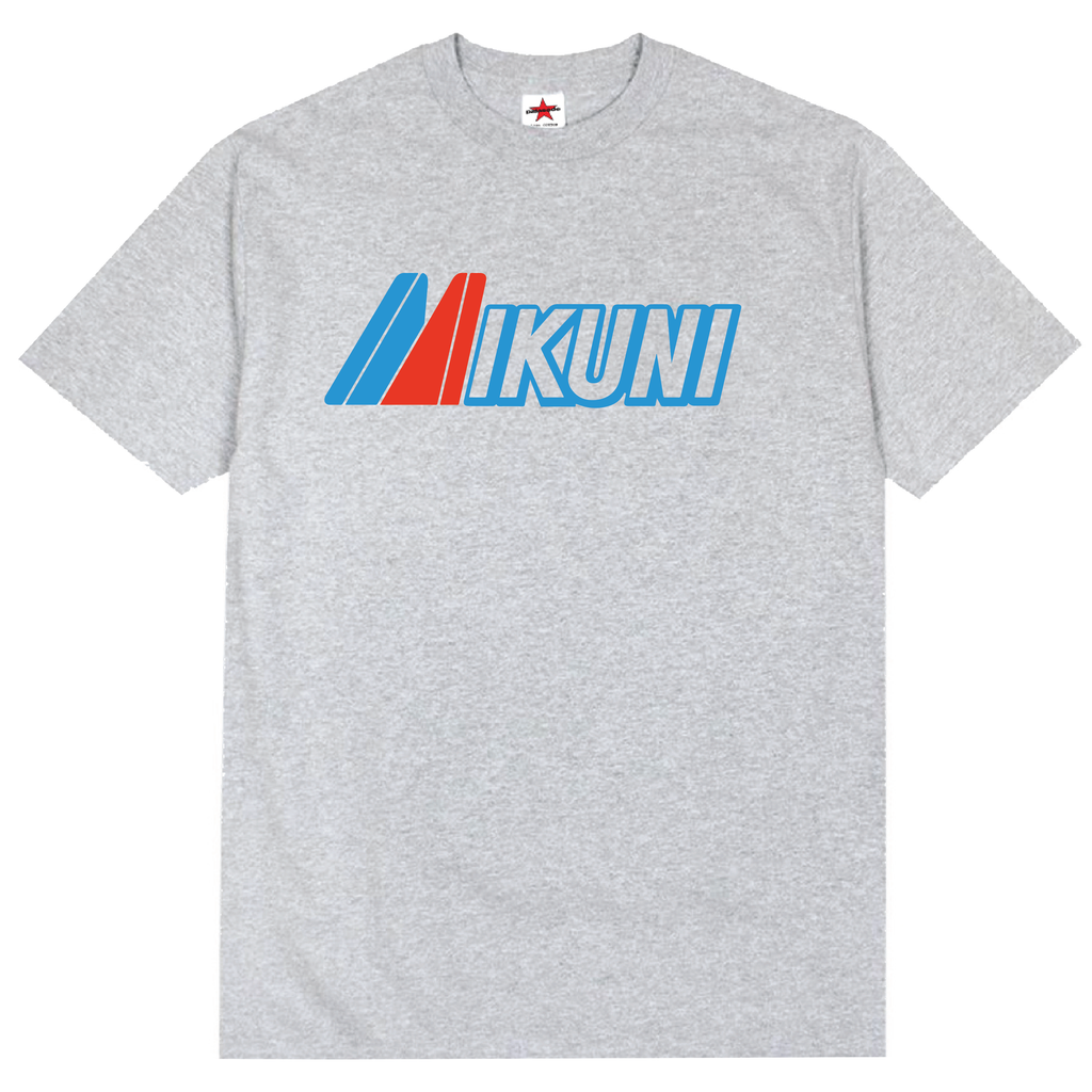 VINTAGE MIKUNI CARBURETORS LOGO TEE (GREY)