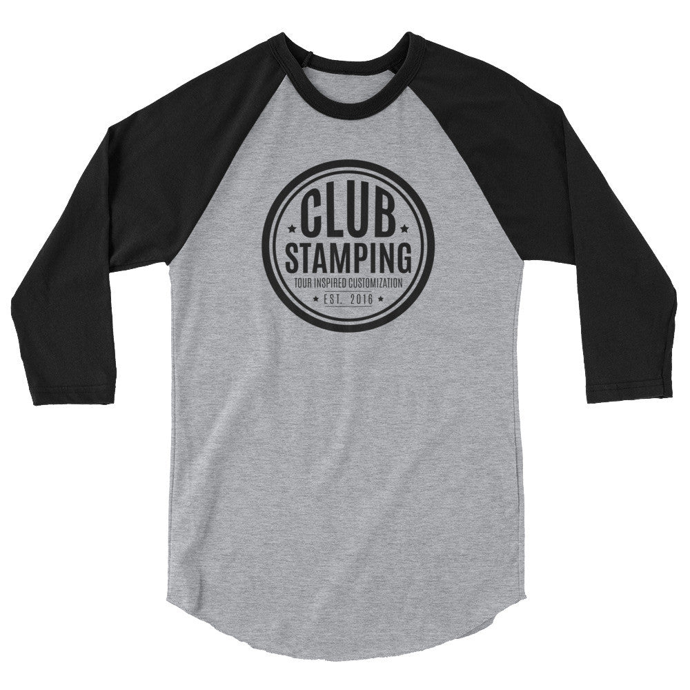 Club Stamping 3/4 Sleeve Shirt (12+ Colors)