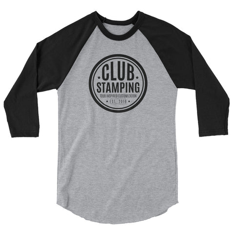 Image of Club Stamping 3/4 Sleeve Shirt (12+ Colors)