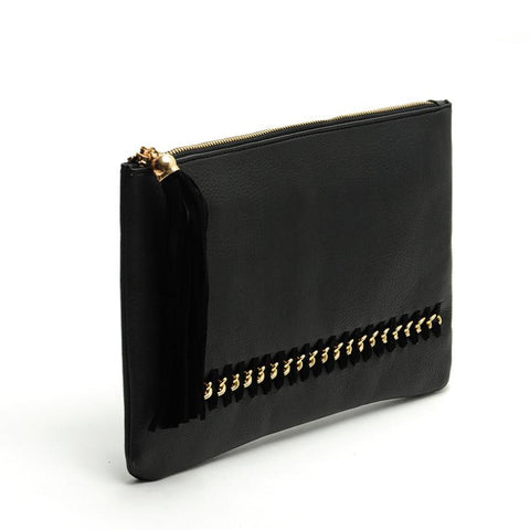 Faux Leather Evening Bag