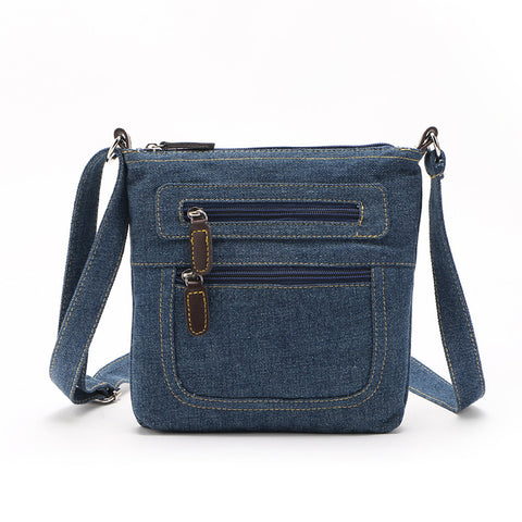 Casual Denim Messenger Bag
