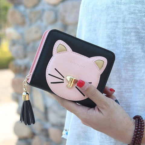 Fun coin purse with cat theme