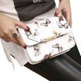 Floral PU leather Shoulder Bag