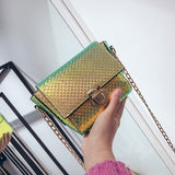 Chic PU Leather Chain Bag