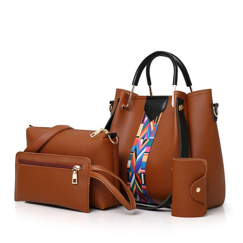Set of four matching bags