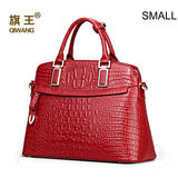 Qiwang Crocodile Pattern Top Handle Bags