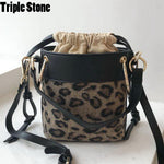 Leopard Pattern Bucket Bag