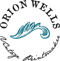 Orion Wells, Graveur vintage