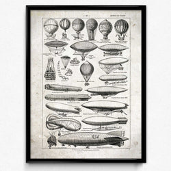 Airships Balloons Vintage Print 1 (VP1004) - Orion Wells
