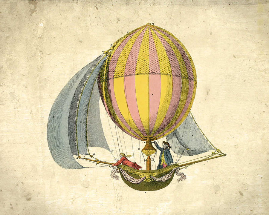 Osta Airships Balloons Vintage Print 3 (VP1006) - Orion Wells