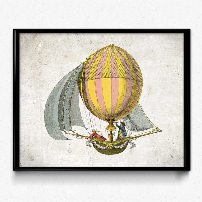 Shop for Airships Balloons Vintage Print 3 (VP1006) - Orion Wells