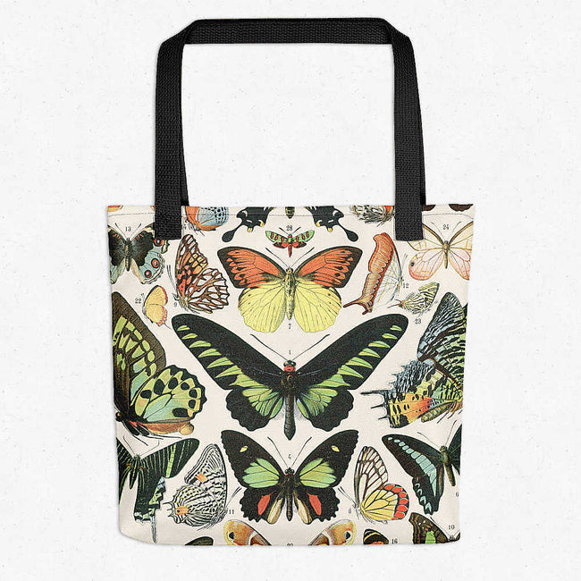 Shop for Butterflies Vintage Print Tote Bag - Larousse - Orion Wells