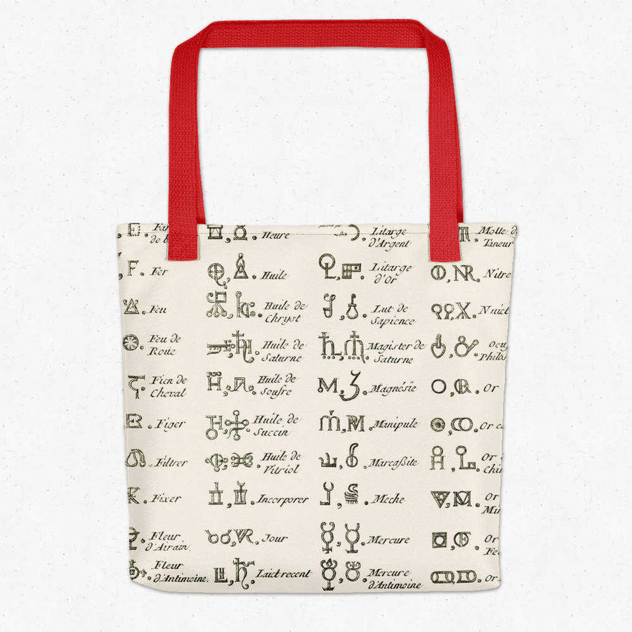 Shop for Chemical Alchemy Characters Vintage Print Tote Bag - Orion Wells