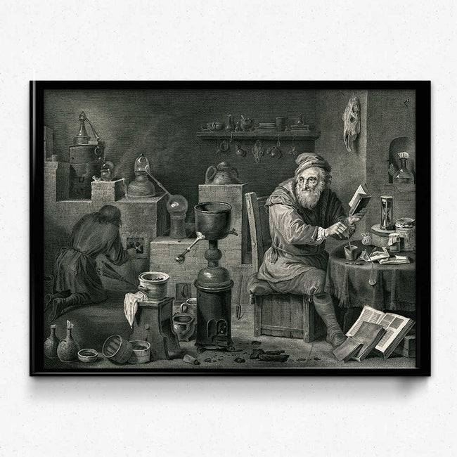 Shop for Chemistry Alchemy Vintage Print 0 (VP1012) - Orion Wells