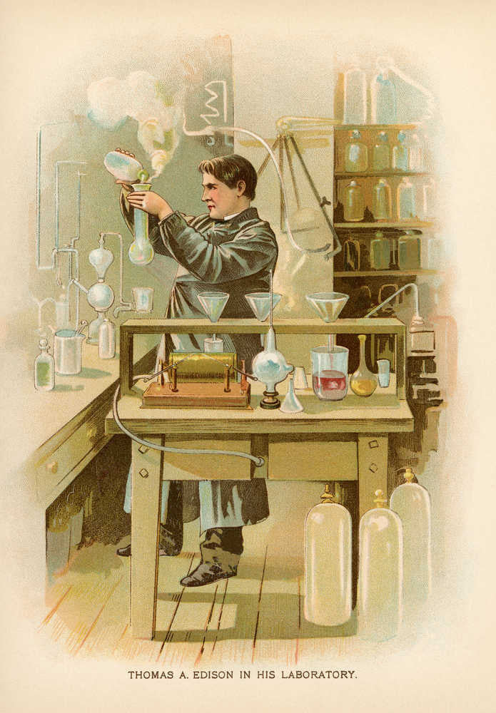Thomas Edison Laboratory Vintage Print - Orion Wells