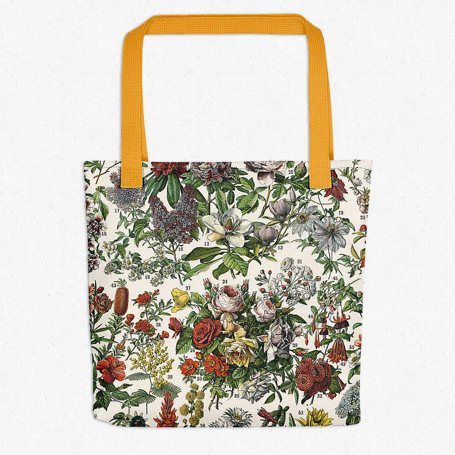 French Flowers Fleurs Vintage Print Tote Bag - Orion Wells