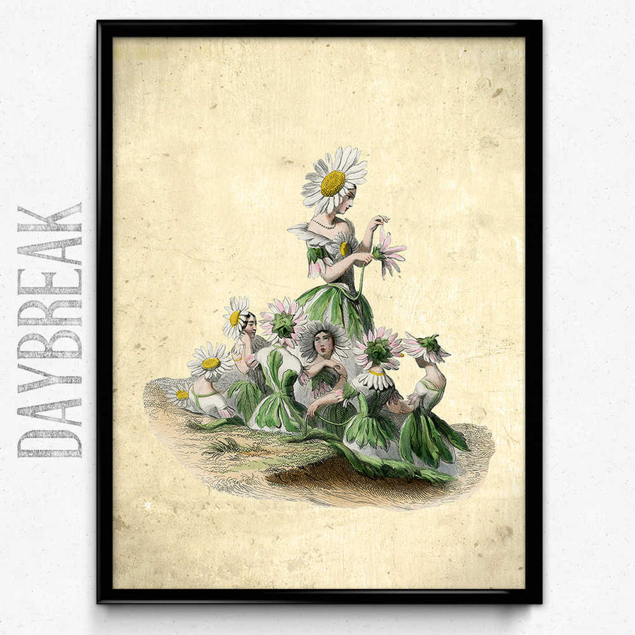 Shop for Flower Girl Daisy Vintage Print - Orion Wells