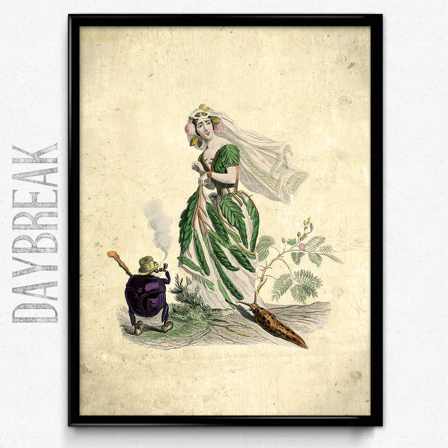 Osta Flower Girl Plum Vintage Print - Orion Wells