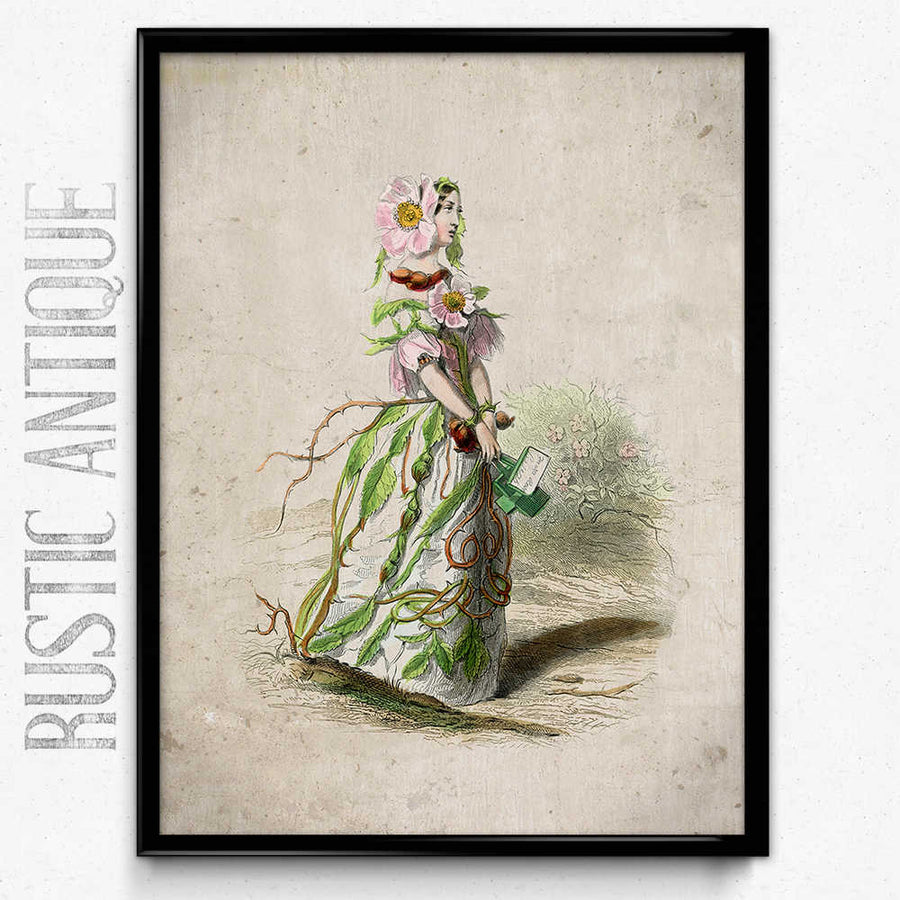 Osta Flower Girl Sweetbriar Vintage Print - Orion Wells
