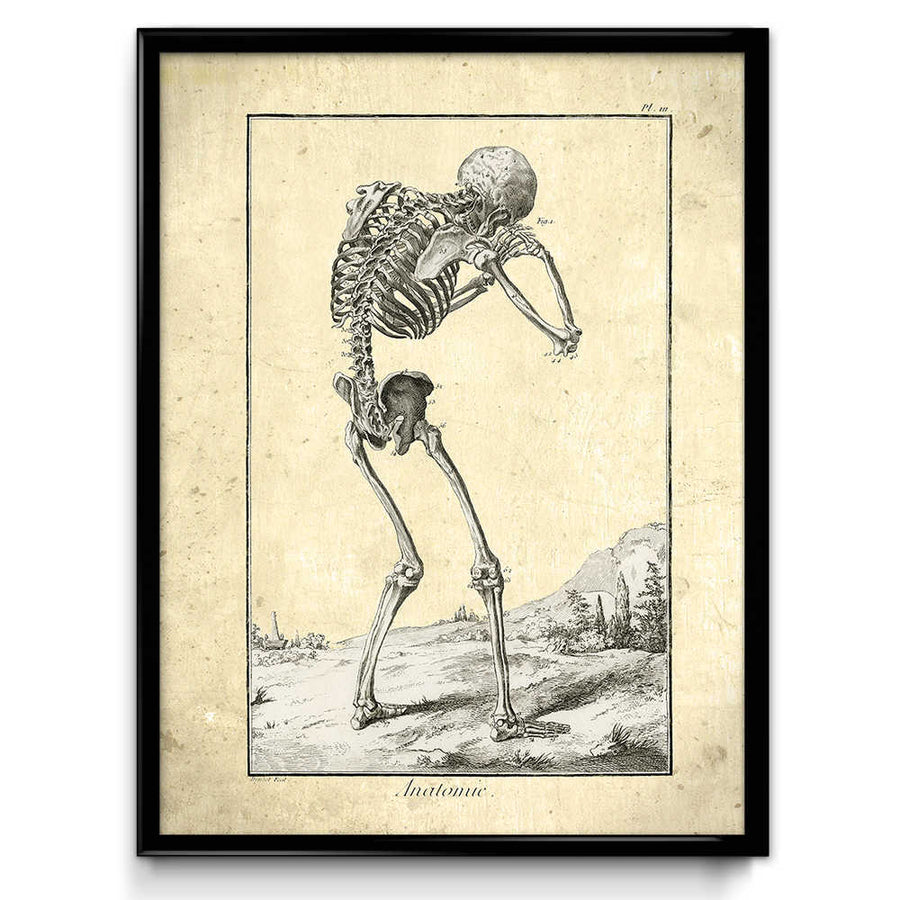 Crying Skeleton Vintage Print VP1047 - Orion Wells