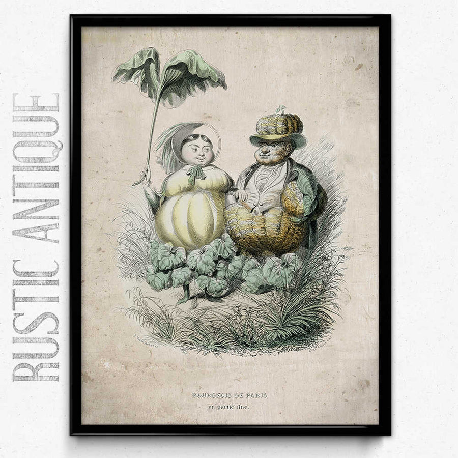 Kitchen Humor Vintage Print 5 - Pumpkin People - Orion Wells