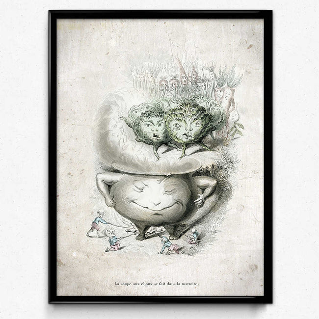 Kitchen Humor Vintage Print 6 - Smiling Pot - Orion Wells