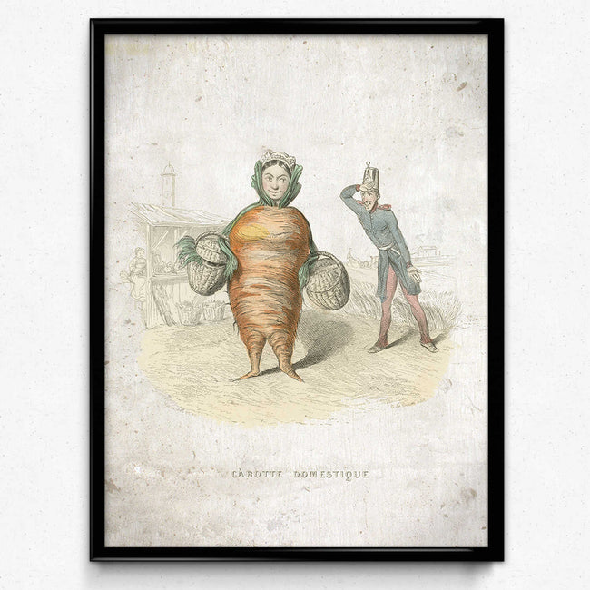 Kitchen Humor Vintage Print 10 - Domestic Carrot - VP1104 - Orion Wells