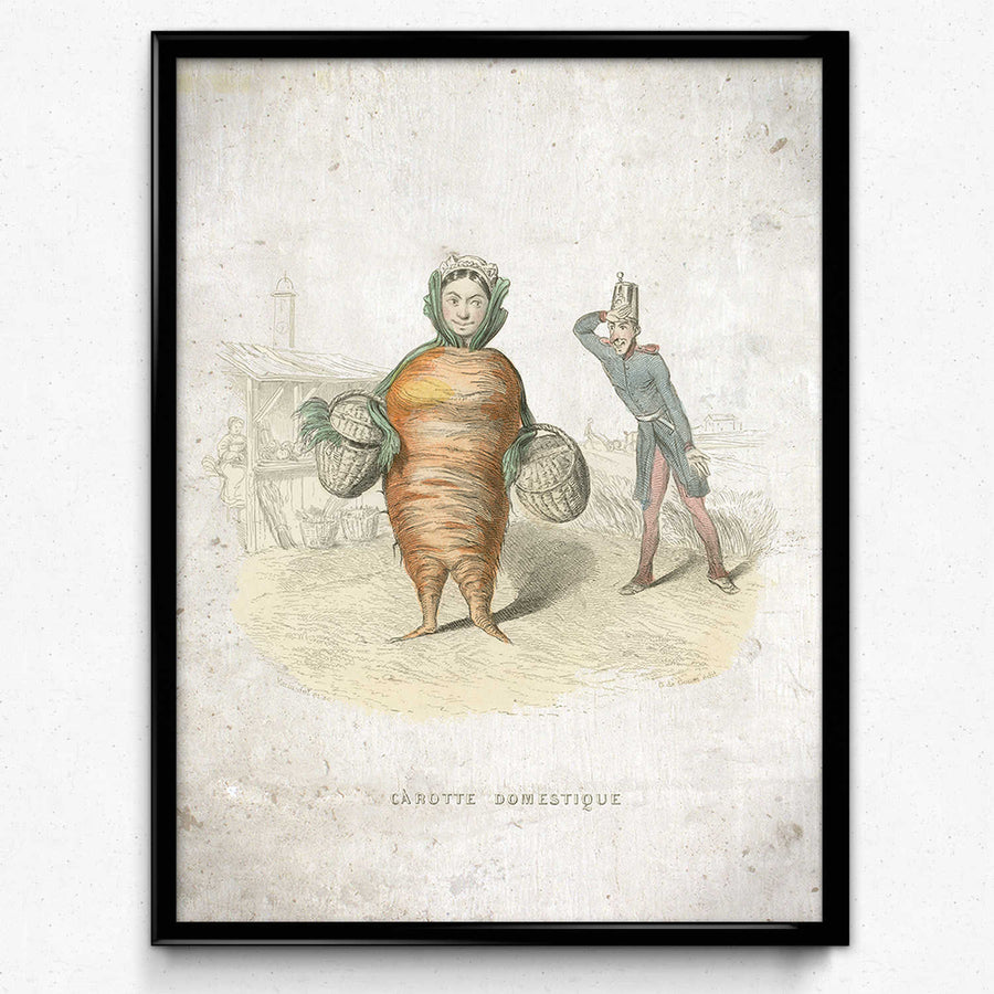 Shop for Kitchen Humor Vintage Print 10 - Domestic Carrot - VP1104 - Orion Wells
