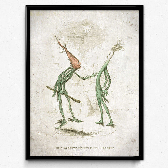 Kitchen Humor Vintage Print 11 - Honest Carrot - VP1108 - Orion Wells